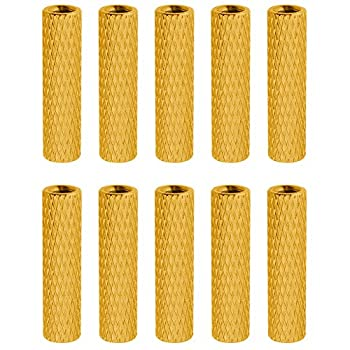 10PCS HobbyPark Aluminum M3x20mm Standoff Spacer Female-Female Round Column for RC Quadcopter Parts DIY Gold Yellow