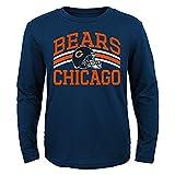 Chicago Bears NFL Youth L/S Navy Blue Team Stripe Shirt