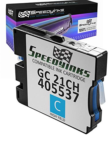 Speedy Inks Compatible Ink Cartridge Replacement for Ricoh 405537 High-Yield (Cyan)