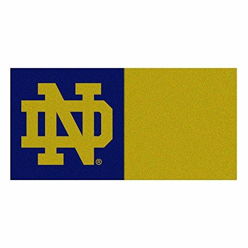 FANMATS NCAA Notre Dame Fighting Irish Nylon Face Team Carpet Tiles by Fanmats