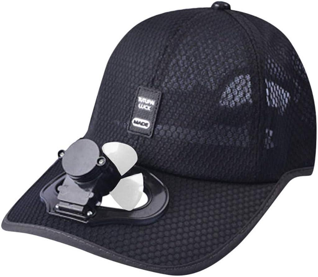 TUDUZ Mujer Sombrero Gorra béisbol Que se refresca Fan Verano USB ...
