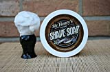 Luxury Shaving Soap with Real Sandalwood, Lavender, and Vanilla Essential Oils. Rich Lather Gives a Smooth Comfortable Shave. Unisex, by Sir Henry's