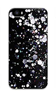 3D Hard Plastic Case for iPhone 5 5S 5G,Hexagon Glitter Case Back Cover for iPhone 5 5S
