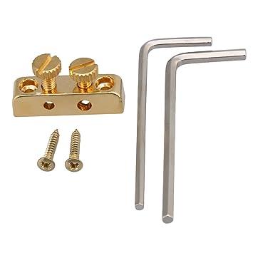 BQLZR 2,5 mm de diámetro 3 mm, llave Allen Cabezal de metal con tornillos soporte Kit para guitarra eléctrica accesorios, dorado: Amazon.es: Instrumentos ...