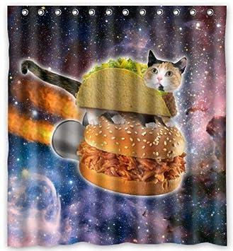 Fabulous Amazon Com Pktcfc Hustie Adag Hipster Flying Space Cats Interior Design Ideas Oxytryabchikinfo