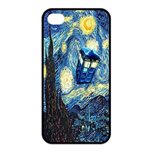 Personalized Stylish Durable Dr Who Tardis Cover Case for Iphone 4 4s SL07104