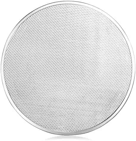 New Star Foodservice 50714 Seamless Aluminum Pizza Screen, Commercial Grade, 20-Inch