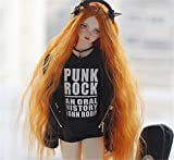 Tita-Doremi BJD Pullip SD Orange Wavy Long Wig Hair 8-9