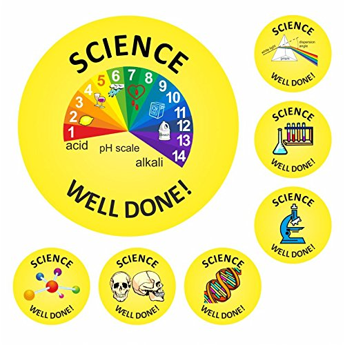 140 Science Well Done Stickers