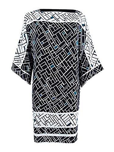 Lauren Ralph Lauren Geometric-Print Shift Dress (Multi, 16)