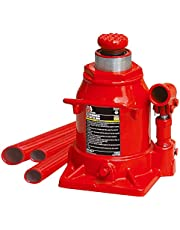 Big RED T92007A Torin Hydraulic Stubby Low Profile Welded Bottle Jack, 20 Ton (40,000 lb) Capacity