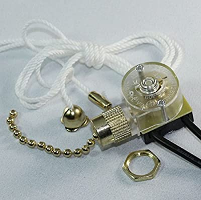 Zing Ear ZE-109 Pull Chain Switch Light Lamp Ceiling Fan Canopy