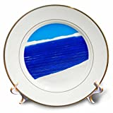 3dRose Alexis Photography - Seasons Winter - Snow covered solar power panel, blue sky - 8 inch Porcelain Plate (cp_265636_1)
