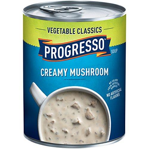 Progresso Soup, Vegetable Classics, Creamy Mushroom Soup, Gluten Free, 18 oz Can