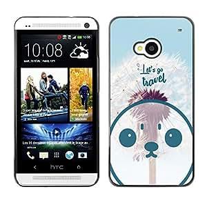 Dragon Case - FOR HTC One M7 - let's go travel - Caja protectora de pl??stico duro de la cubierta Dise?¡Ào Slim Fit
