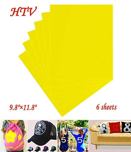 "Heat Transfer Vinyl Iron On Cricut HTV Sheets 9.8""×11.8"""