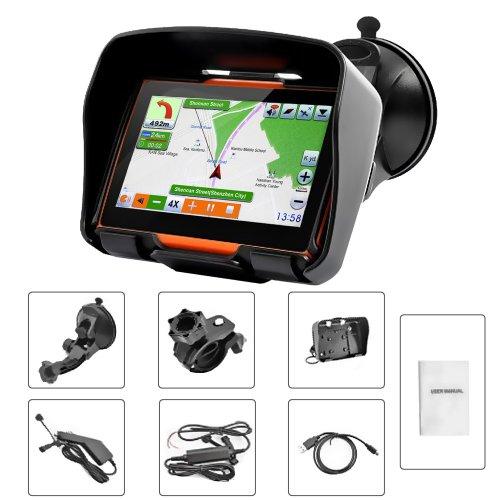 Motorcycle Navigation Systems : Koolertron inch all terrain waterproof motorcycle gps