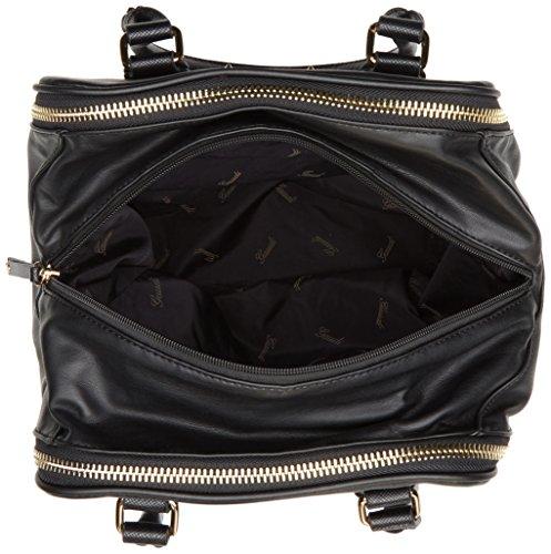 H 26x30x21 cm W L Linea Mano a Amber x Borsa x Nero Handbag Gaudì Black Donna nPTqwH0Px