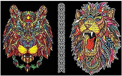 Colorvelvet Lion et Leonessa Classeur /à anneaux en velours /à colorier C30