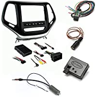 Metra 99-6526S Silver Double DIN Stereo Dash Kit for Select 14-up Jeep Cherokee Metra Axxess ASWC-1 Universal Steering Wheel Control Interface And Antenna Adapter