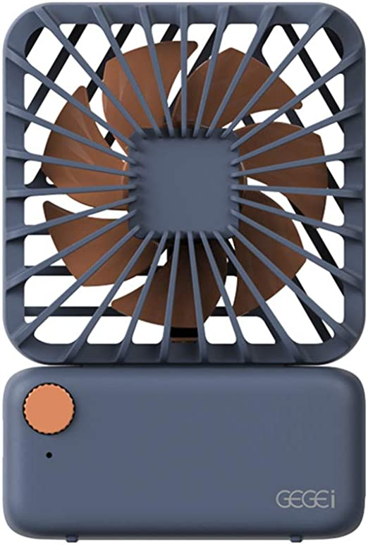 CBRCYGG Ventilador De Escritorio, Ventilador Cuadrado PequeñO, Ventilador De Mesa PortáTil De Mano con Silenciador De Carga USB, Ventiladores De Cuello Colgante, Ventilador De Enfriamiento De Aire: Amazon.es: Hogar