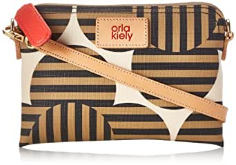 Orla Kiely Optical Flower Print Poppy Cross Body Bag