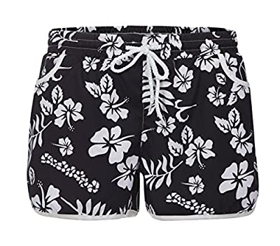 OMONSIM Women Sexy Quick Dry Floral Boardshort Hot Pants Swimming Trunks Tropical Volley Beach Shorts