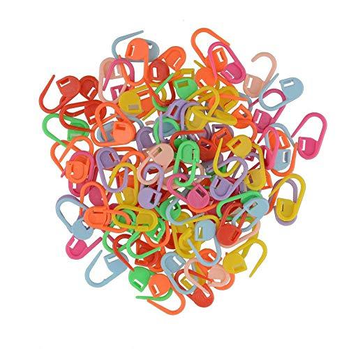 Sulida Miryo-100pcs marcadores de la puntada de plástico para hacer punto del ganchillo de bloqueo, herramientas para hacer...
