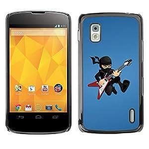 TECHCASE**Cubierta de la caja de protección la piel dura para el ** LG Google Nexus 4 E960 ** Ninja Rock star