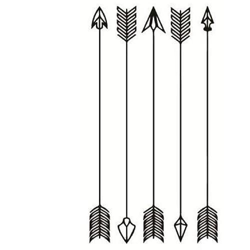 5, diseño de flechas entrelazadas, tatuajes provisionales ...