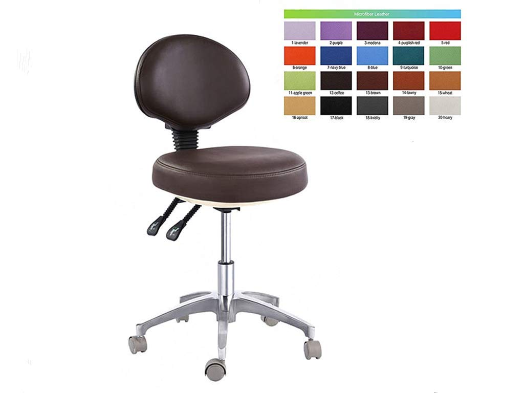 SoHome Dental Surgeon Stool Comfortable Hospital Chair 2 Adjustment Levers Mobile Dentist Chair Micro Fiber Leather by SoHome