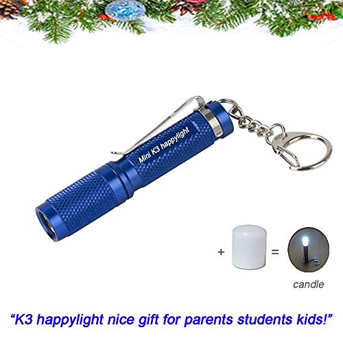 Mini AAA Keychain Flashlight K3,Small Waterproof Bright