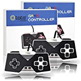 USB Game Controllers, kiwitatá Super Nintendo Wired Gamepad Controller PC Mac Retropie Raspberry Pi Joystick(Pack of 2)