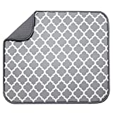 S&T 497400 Microfiber Dish Drying Mat, 16 by 18-Inch, White Trellis