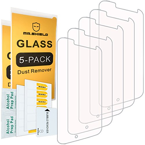 [5-Pack]-Mr.Shield for Motorola Moto G4 / Moto G (4th Generation) [Tempered Glass] Screen Protector with Lifetime Replacement
