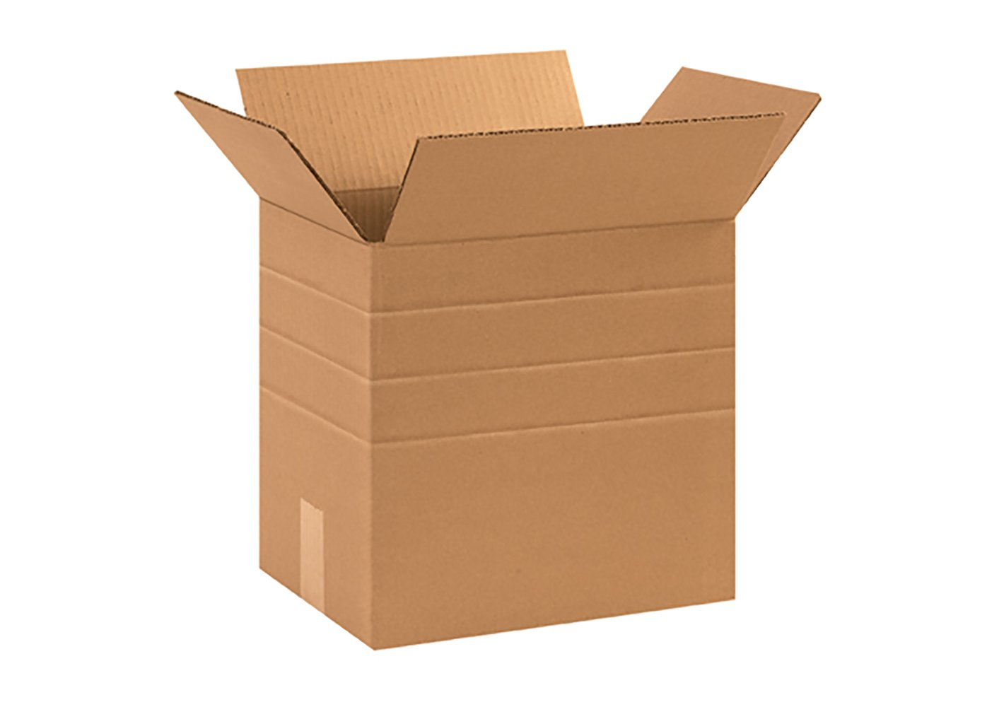 RetailSource B131012MD300 Multi-Depth Corrugated Box, 12'' Height, 10.25'' Width, 13.25'' Length, Brown (Pack of 300)