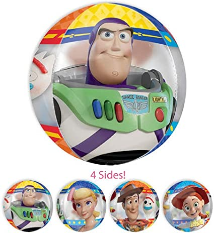 LOONBALLOON 22 Inch Disney Toy Story Bubble Balloon// Cartoons Movie Character Balloons for Kids Birthday and Theme Parties