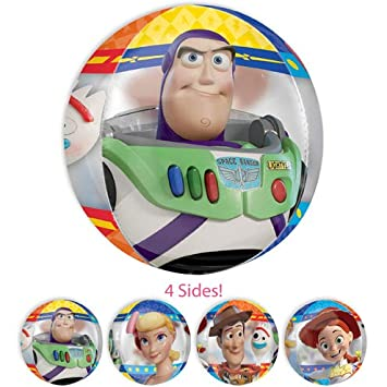 Amazon.com: LOONBALLOON 16 Inch See-Thru Orbz Toy Story 4 ...