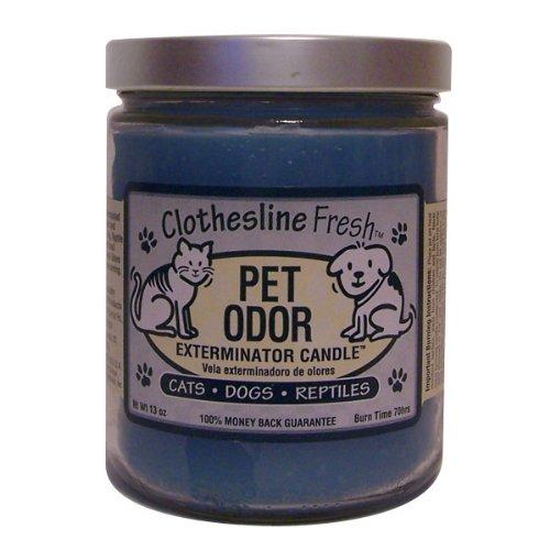 Pet Odor Exterminator Candle, Clothesline Fresh,13 oz - Odor Removal Clothes