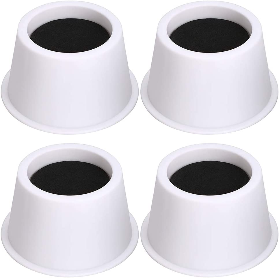 OwnMy 2 Inch Round Circular Bed Risers Heavy Duty Furniture Risers Lifter for Bed Table Chair Sofa, A Set of 4 (White)