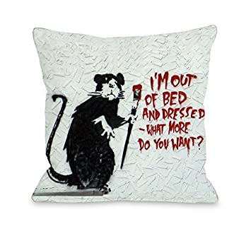 amazon co jp bentin home decor rat out of bed throw pillow by