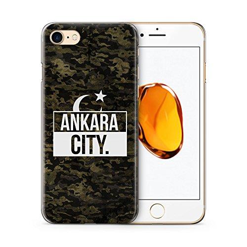 Ankara City Camouflage - Hülle für iPhone 7 SLIM Handyhülle Case Cover Schutzhülle Hardcase - Türkische Türkce Turkish Türkei Türkiye Turkey Türk Asker Militär Military Design