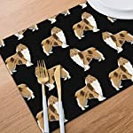 Gao808yuniqi Rough Collie Dog 3D Printed Tableware Mat,Placemats Set of 6,18 X 12,Snack Placemats,Beverage Placemats,Party Placemats for Dining Table,Kitchen Drink Placemat 10