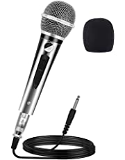 Ankuka Professional Karaoke Microphone, Pro Vocal Dynamic Microphone with 13ft XLR to 6.35mm Cable for Audio Connection for Stage Singing Recording Speech Wedding Indoor Outdoor