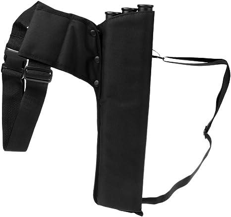 Arrow Back Quiver 3 Tubes Hunting Archery Arrow Holder Side Bag Black