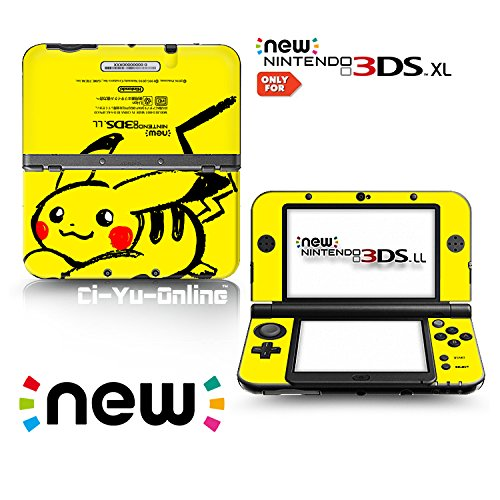 Ci-Yu-Online VINYL SKIN [new 3DS XL] - Pikachu Yellow #7 - Limited Edition STICKER DECAL COVER for NEW Nintendo 3DS XL / LL Console System