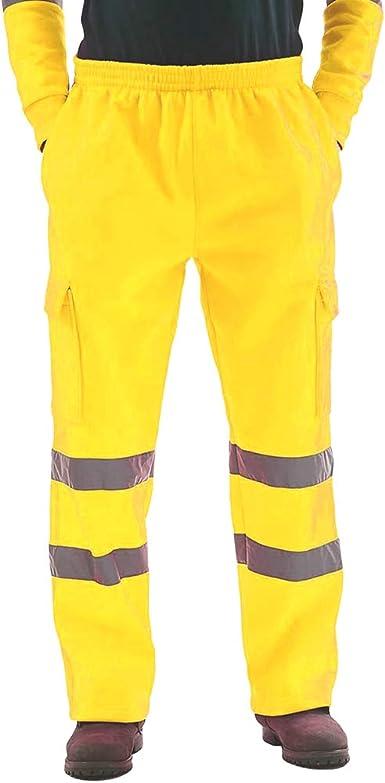 Yying Pantalones De Chandal Seguridad Hombres Pantalones Trabajo Reflectantes Pantalones De Chandal Joggers Pantalones De Chandal De Trabajo Joggers Amazon Es Ropa Y Accesorios
