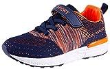 SKOEX Boy's Girl's Lightweight Sneakers Strap Sport Running Shoes (Toddler/Little Kid) US Size 3 Orange