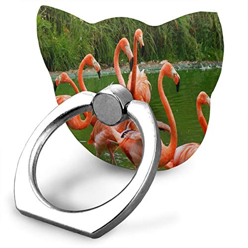 Ring Phone Holder Cat Shape Adjustable 360° Rotation Flamingo Friend Finger Ring Stand Fit Phone X/6/6s/7/8/8 Plus/7, Galaxy, Android, Smartphone