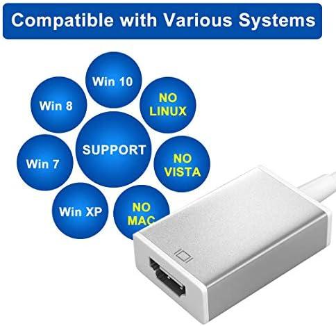 kompatibel mit Windows 7//8//8.1//10 Mac Chrom-System unterst/ützt bis zu 1080P bei 60 Hz Aufl/ösung Ausgang USB 3.0 auf Dual HDMI Adapter mit Audio-Ausgang